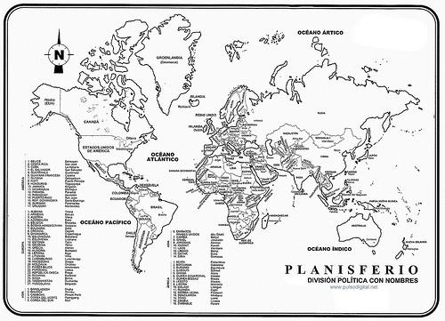 Planisferio Mapa Mudo Fsico y Poltico  Cuponera de Descuento
