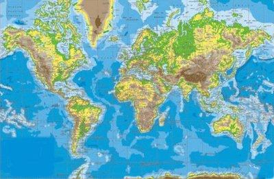 Planisferio Mapa Mudo Físico y Político